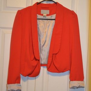 Red Crop Blazer